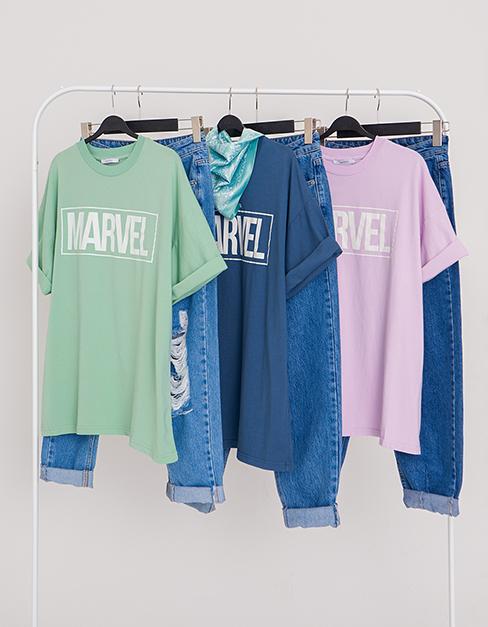 Yazı Detaylı T-shirt Yırtık Detaylı Pantolon