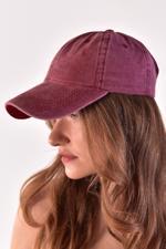 Bayan Bordo Unisex Şapka