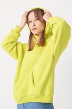 Bayan Yeşil Kapüşonlu Sweat