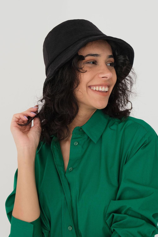 Siyah Kaşe Bucket Şapka ŞPK1027