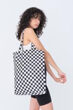 Bayan Siyah Desenli Çanta