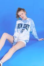 Bayan Mavi Batik Sweatshirt