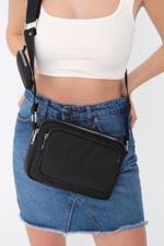 Bayan Siyah Cüzdan Aksesuarlı Çanta