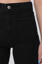 Bayan Siyah Cep Detaylı Pantolon