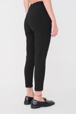 Bayan Siyah Önden Bağlamalı Pantolon