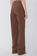 Bayan Kahverengi Bol Paça Pantolon