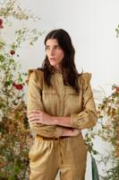 Female SHINNY OLIVE AMALFI BLOUSE