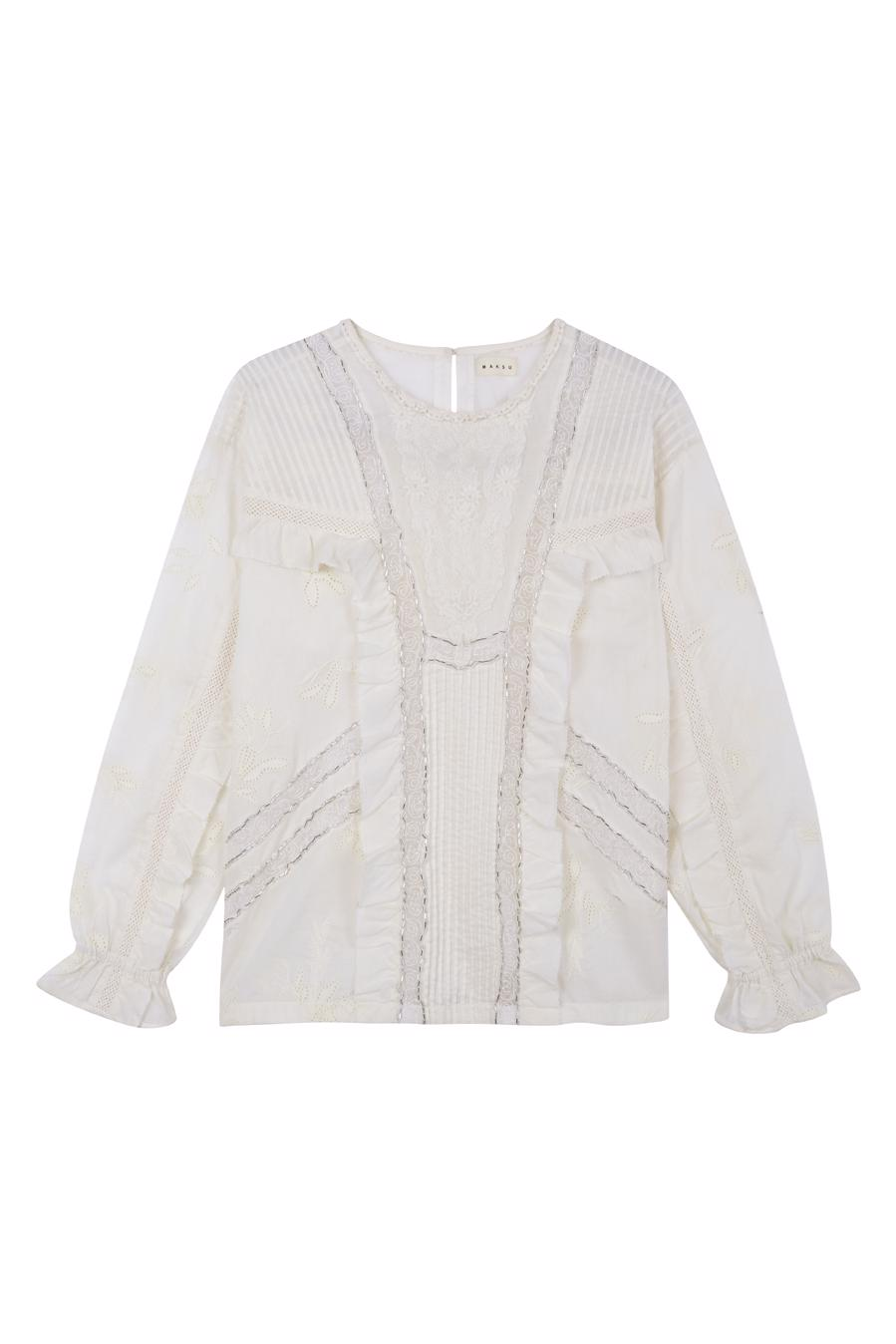 Female WHITE BELEZZA BLOUSE