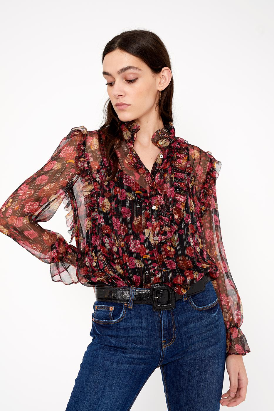 Female black FIORIRE BLOUSE