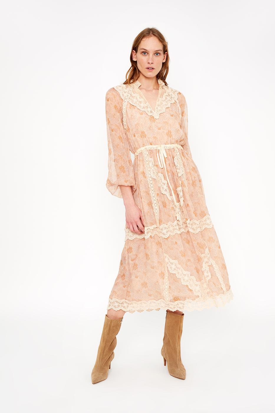 Female LIGHT BEIGE ROMANTICO DRESS