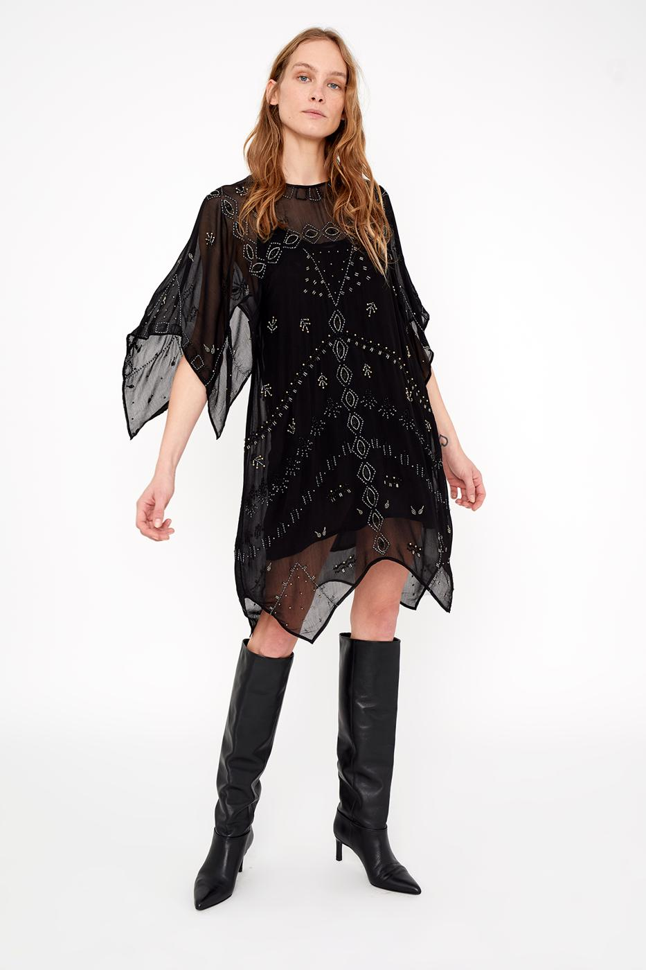 Female black NOTTE DRESS