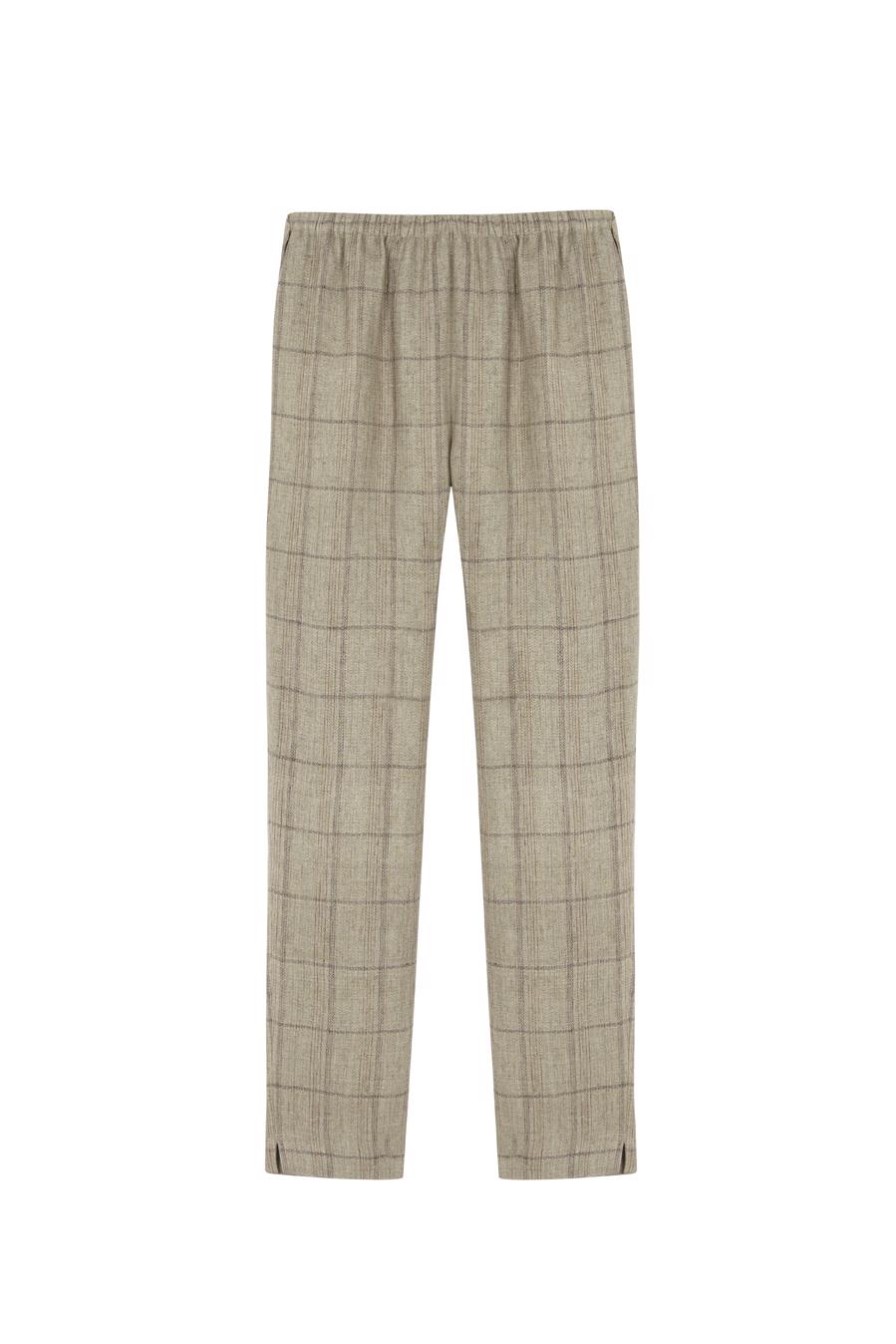 Female KHAKI CHECKS PRADO PANTS