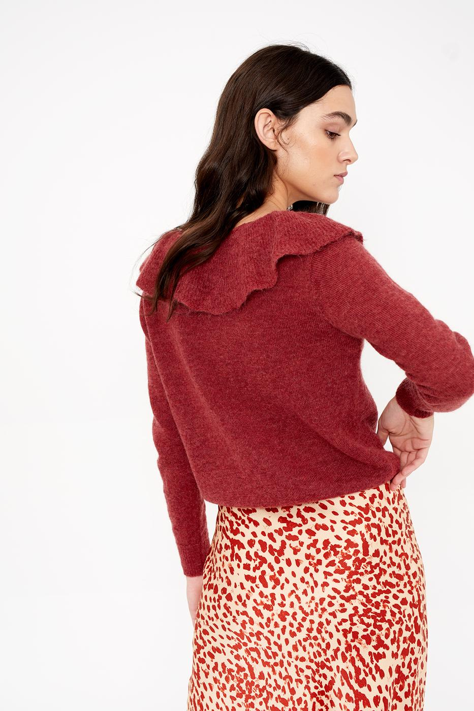 Female BURGUNDY VITA SWEATER