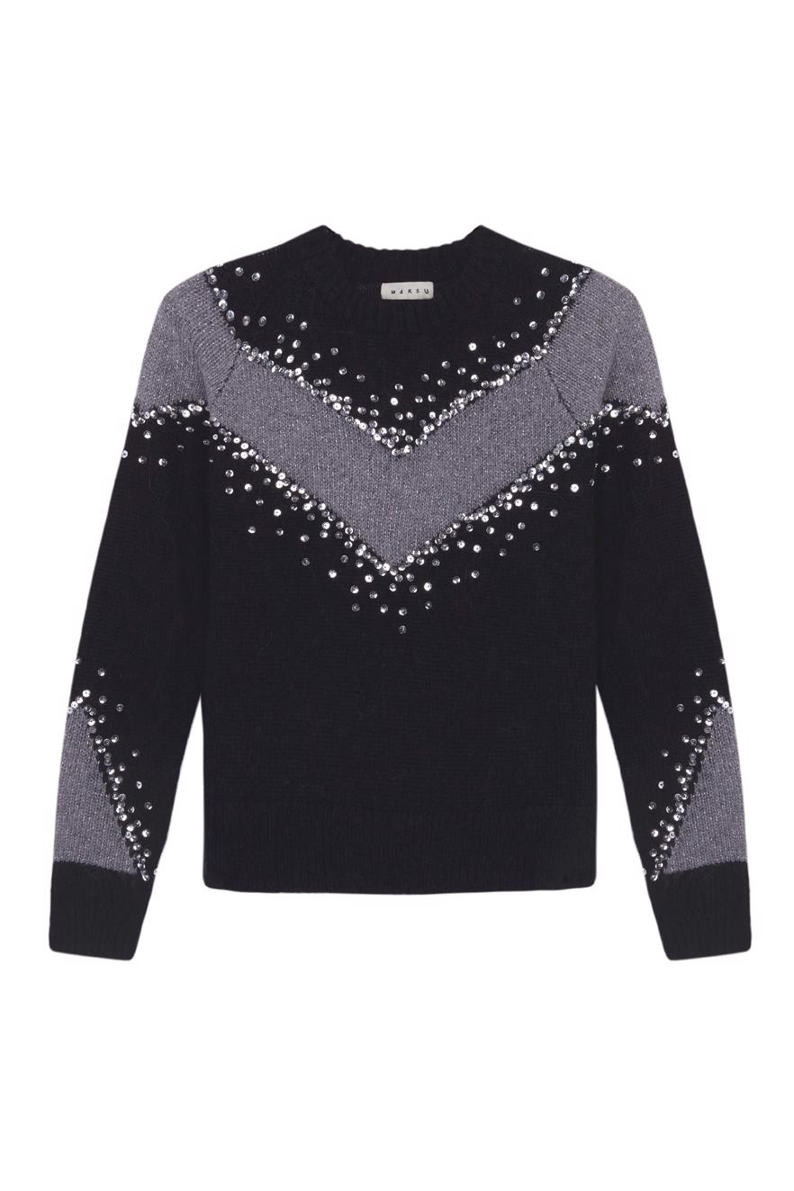 Female black STELLA SWEATER