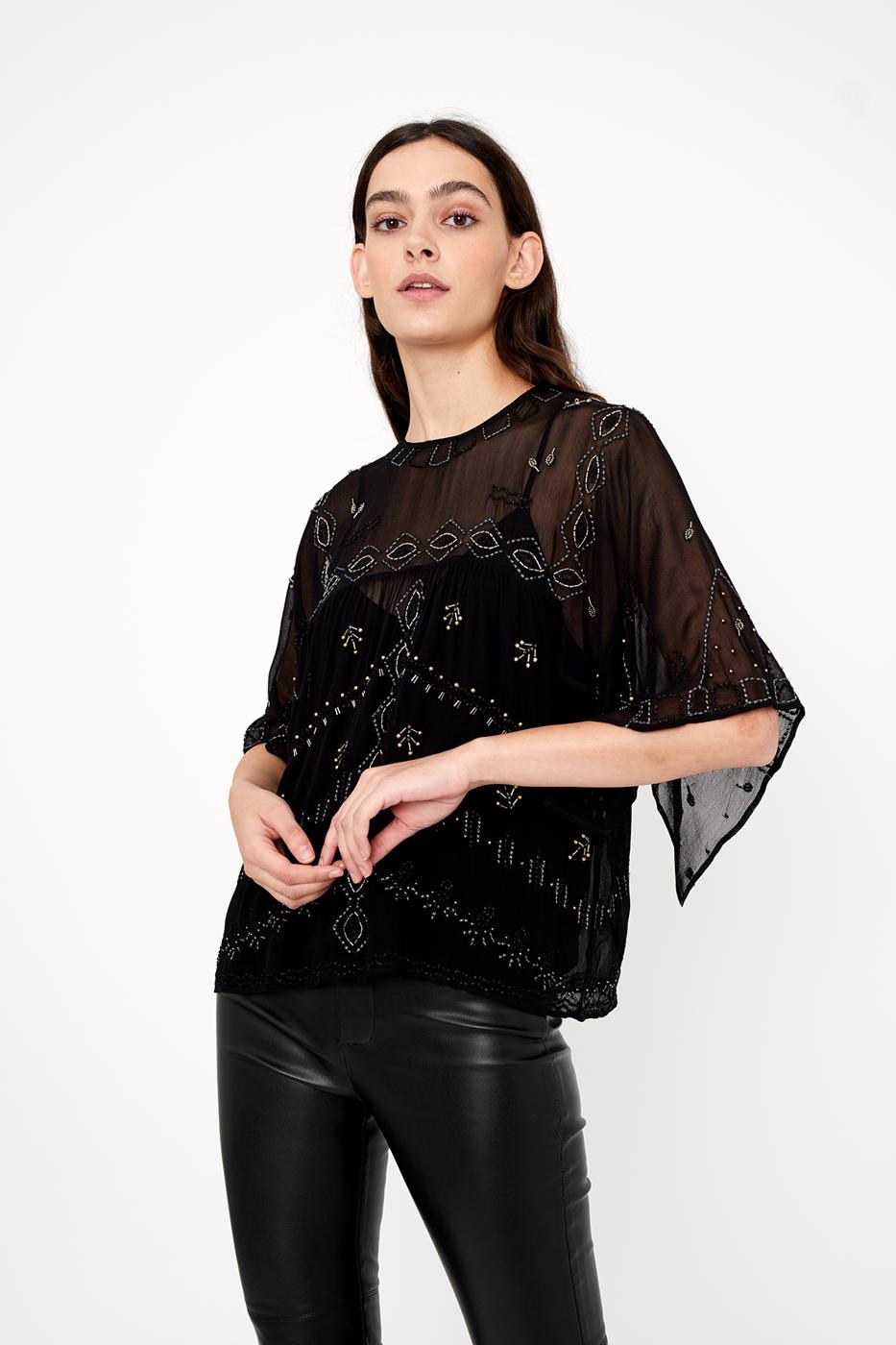 Mujer black TOP NOTTE