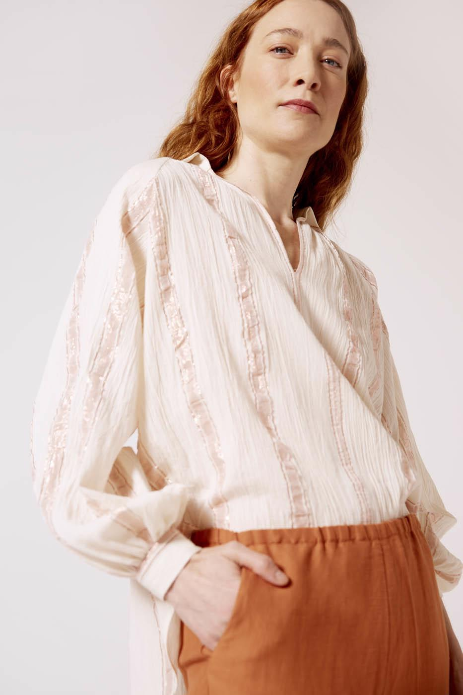 Female LUREX STRIPES PALMA SHIRT