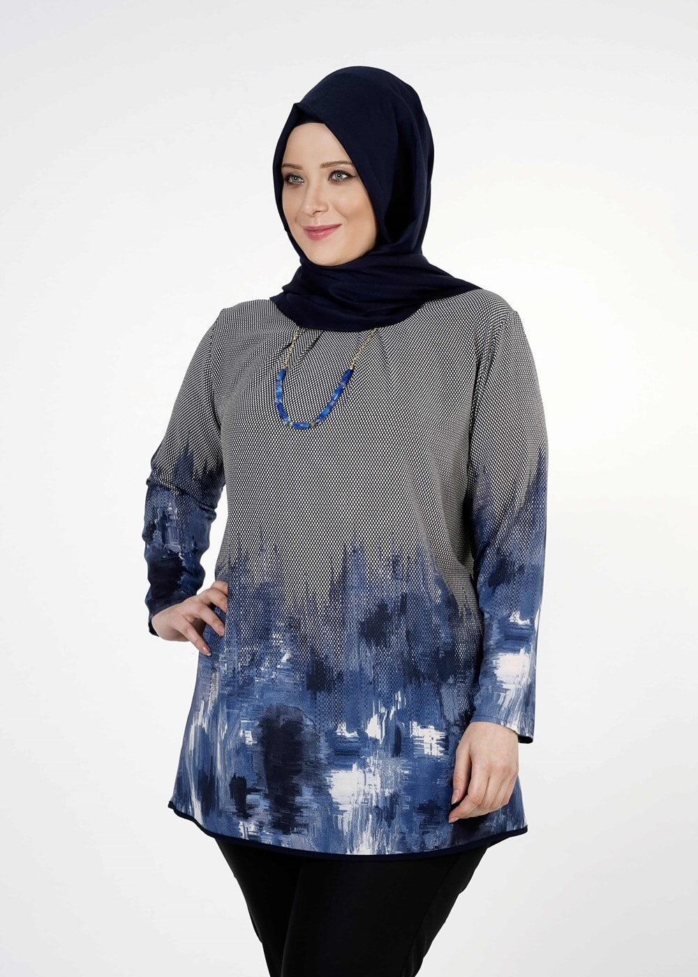 Female BLUE PRINTED BLOUSE 5322