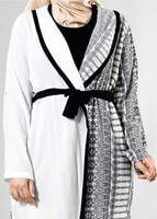 Bayan BEJ T 3790 S_VUP  Etnik Desenli Kuşaklı Ceket