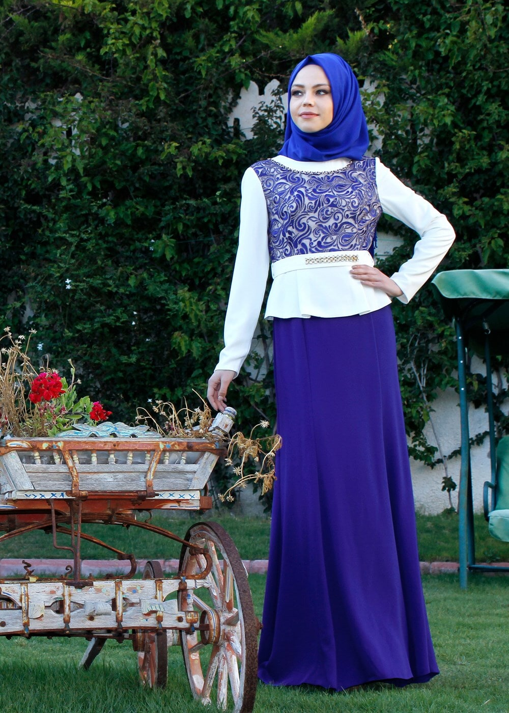 Femelle BLEU MARINE T 3140 Marimar Tesettür  Elb.Tkm-Alv Fashion