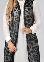 Femelle NOIR T 4521 AG 41 2′li Tesettür Tunik-Alv Fashion