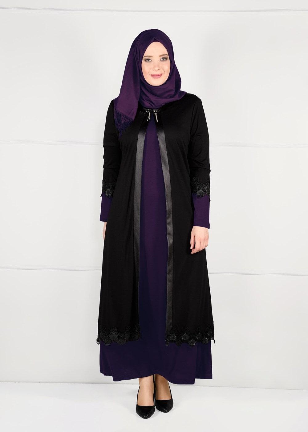 Bayan MOR DERİ BİYE ŞERİTLİ GÜPÜRLÜ 2Lİ ELBİSELİ TAKIM 2657
