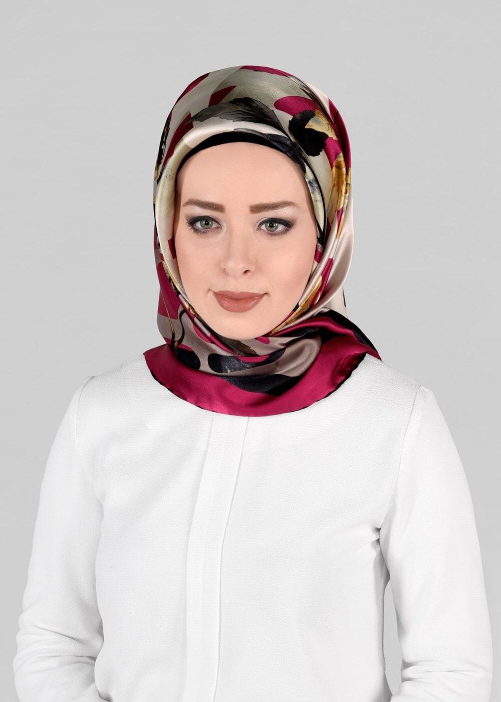 Bayan FUŞYA T 13288-1 ALVİNA İPEK EŞARP