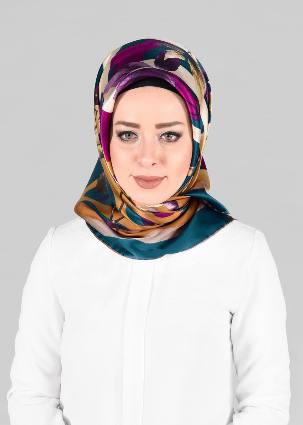 Bayan MAVİ T 13288-1 ALVİNA İPEK EŞARP
