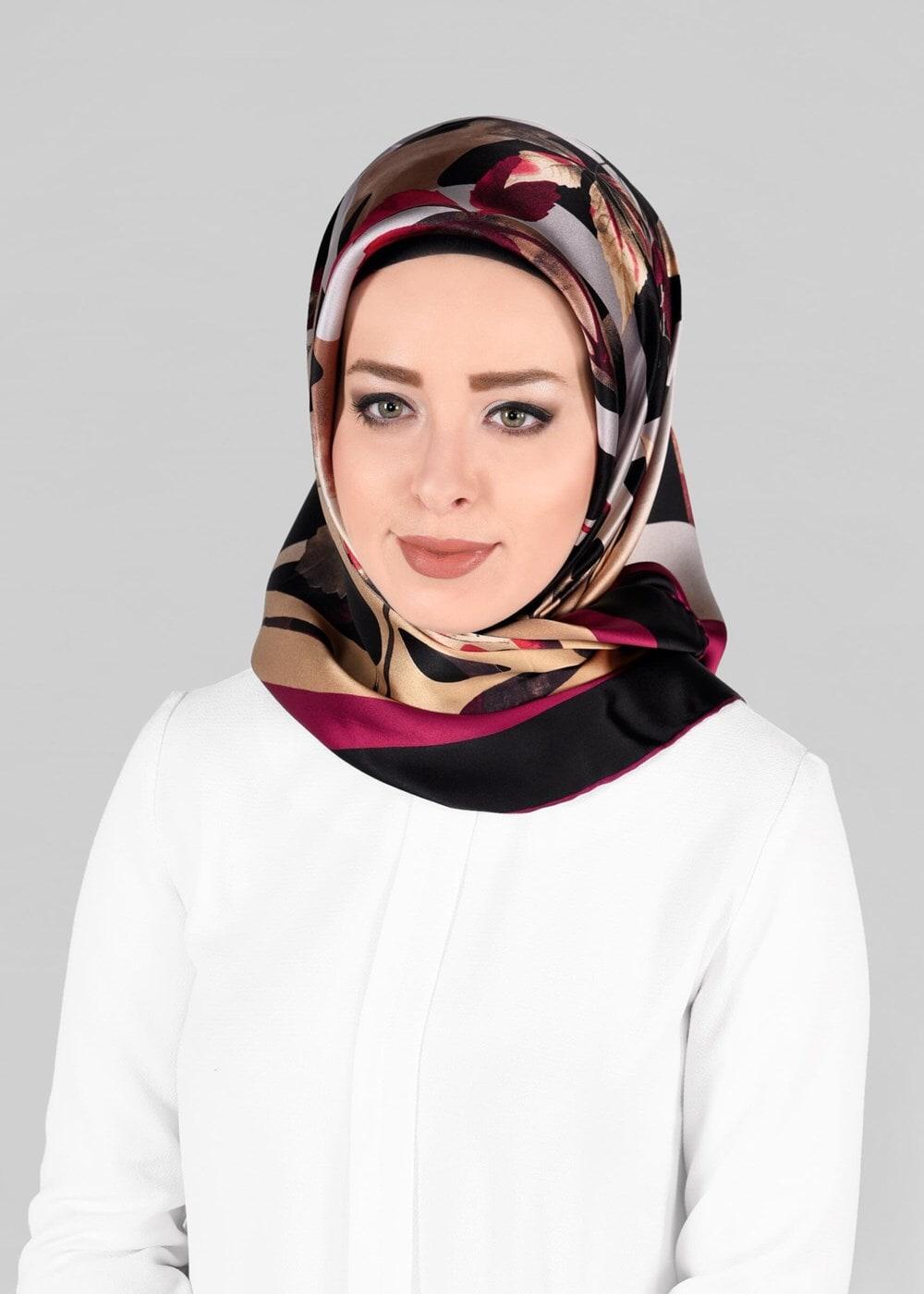 Bayan SİYAH T 13288-1 ALVİNA İPEK EŞARP