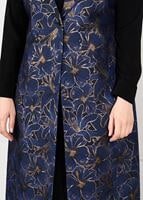 Female NAVY BLUE FLORAL PATTERNED DRESS SUIT 3343