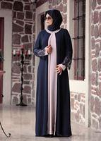 Bayan LACİVERT T 4803 Amine Hüma- Dantel Detaylı Elbise