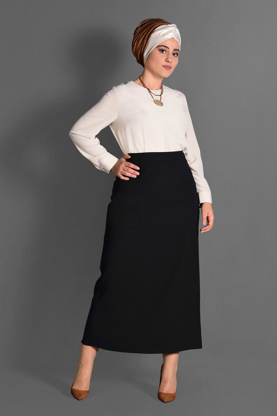 Femelle NOIR T 6064 Nazenin 9008 Etek-Alv Fashion