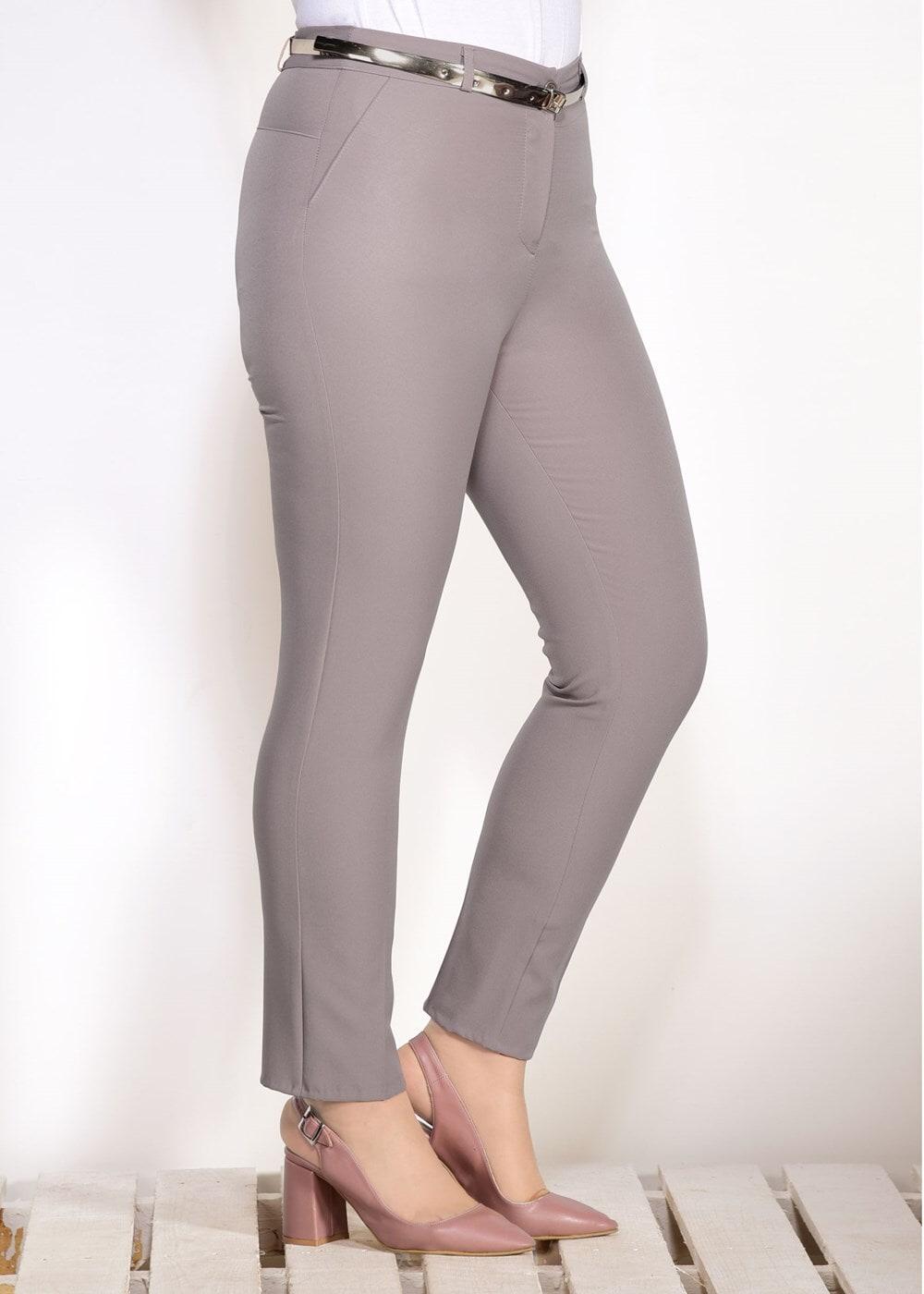 Femelle VISON T 7602 Amine Hüma- Kemer Detaylı Pantolon