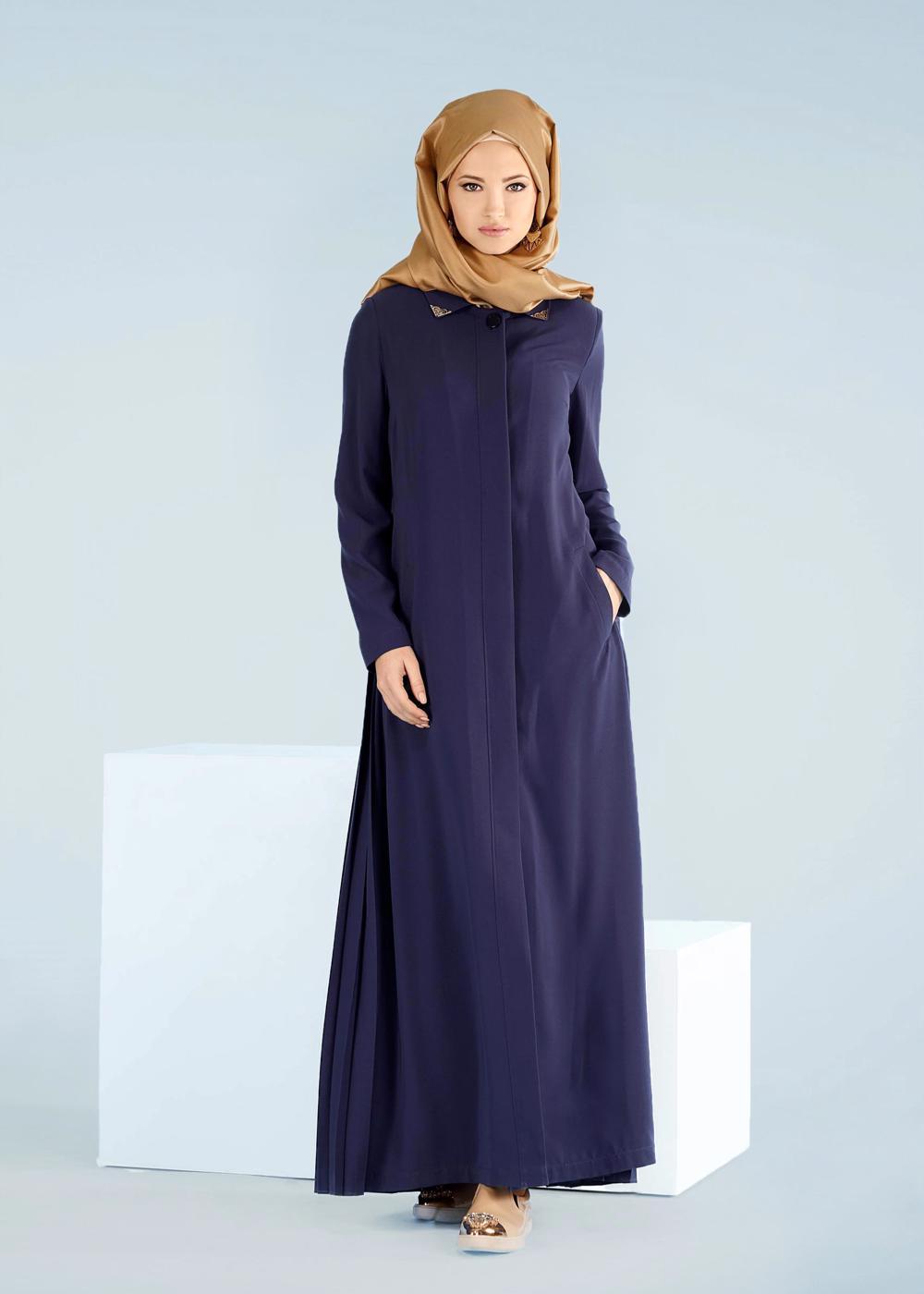 Bayan MAVİ T 1023 Gino Pardesü-Alv Fashion