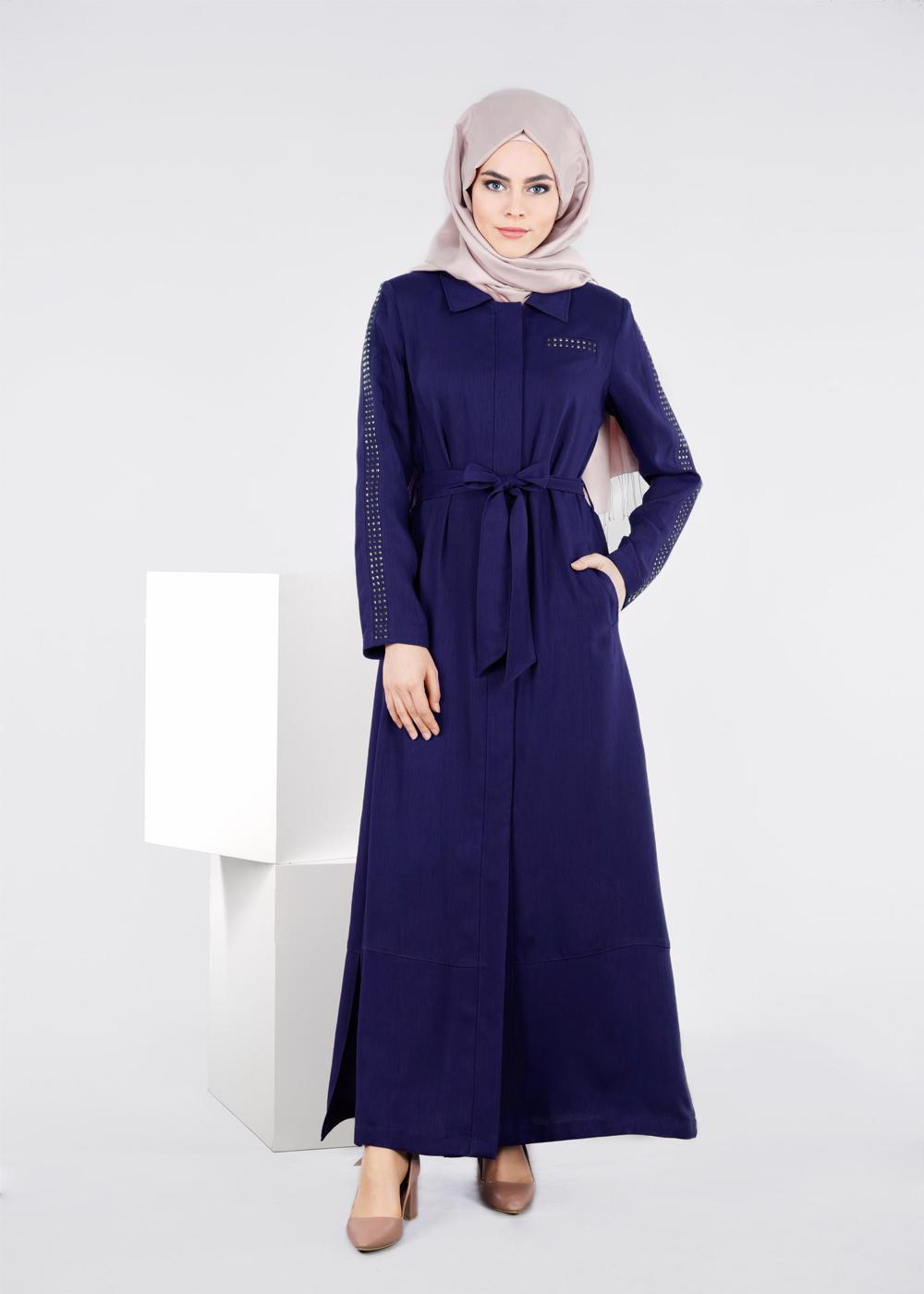 Bayan MAVİ T 1060 New Defne  Pardesü-Alv Fashion