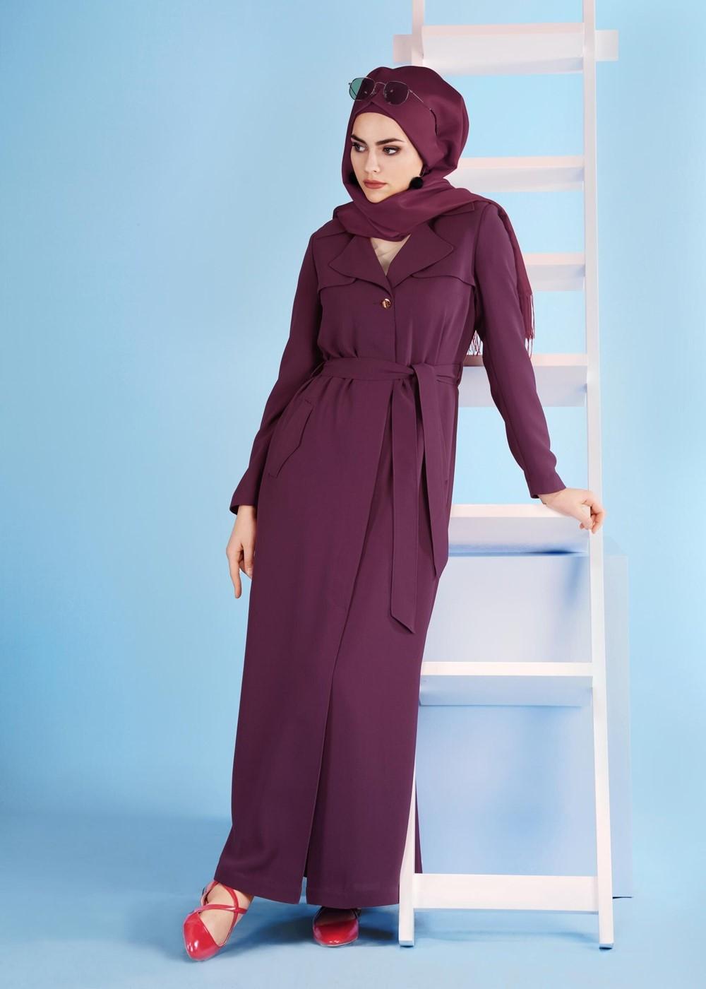 Bayan Mürdüm T 1074 Elvan 3731 Pardesü-Alv Fashion
