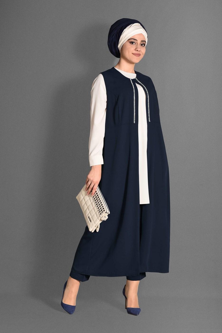 Femelle BLEU MARINE T 3362P-1 Aslı 5929 3′lü pant.Takım-Alv Fashion