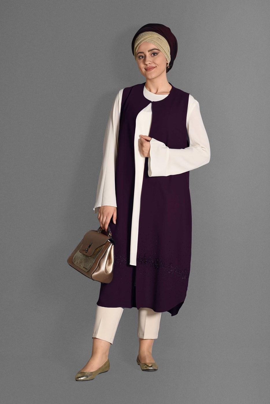 Bayan Mürdüm T 4537 Milas 2′Lİ Tesettür Tunik-Alv Fashion