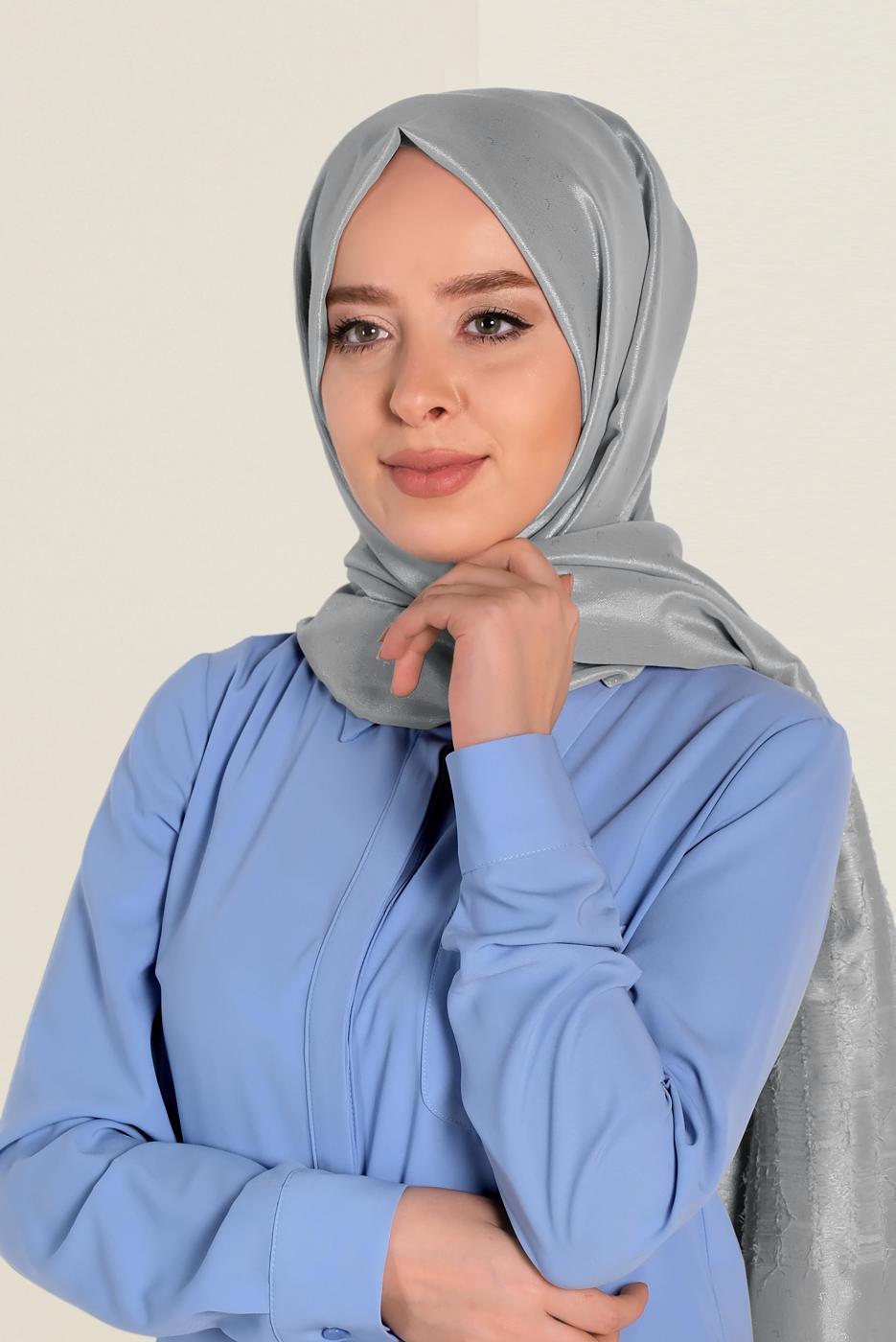Bayan GÜMÜŞ T 9953 ALVİNA TÜYLÜ ABİYE ŞAL