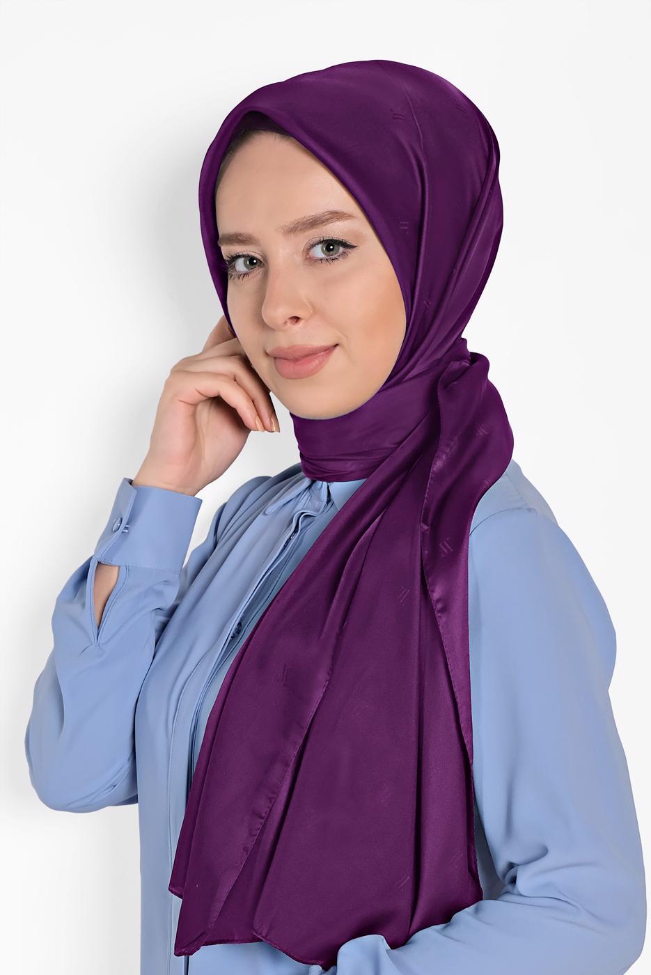 Female PINK T 9957 ALVİNA LOGOLU İPEKSİ ŞAL
