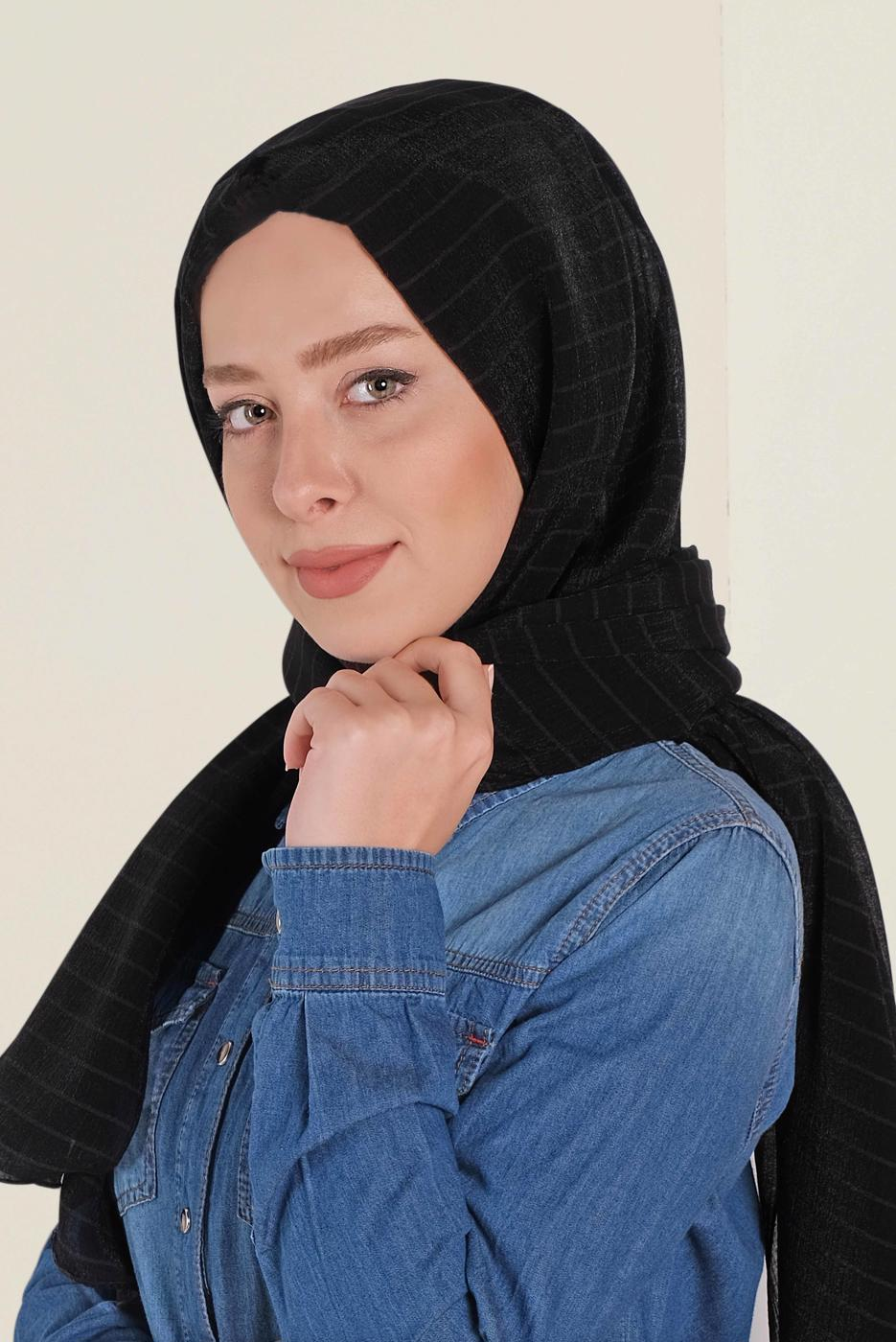 Bayan SİYAH T 9971 ALVİNA NİNO ŞAL