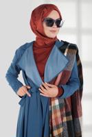 Female BLUE BELTED TRENCH-COAT 2007