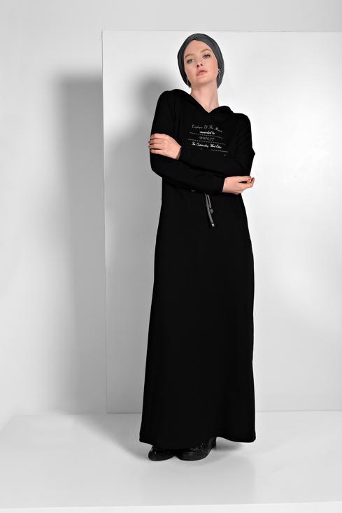 Female  PRINTED HOODED SPORT DRESS 6819