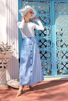 Femelle BLEU ALVINA JUPE RAYÉE 6341