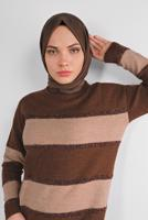 Female COFFEE SPARKLY KNIT TUNIC 9605