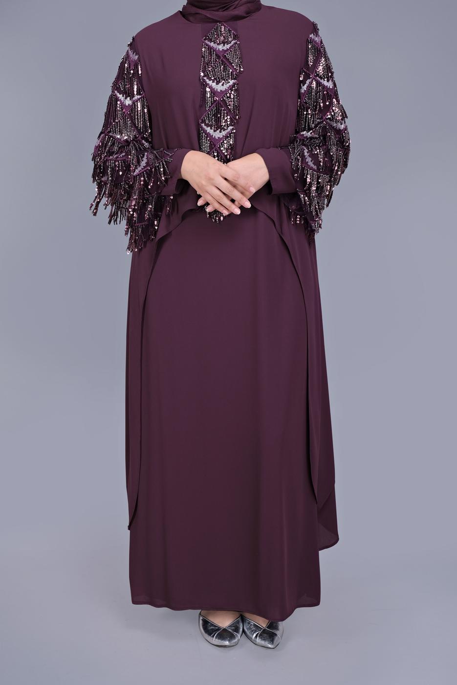 Female Plum 2-PIECE EVENING DRESS 5602