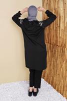 Female BLACK T 9156 NSS-EŞOFMAN CEKET