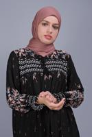 Female BLACK FLORAL PATTERN DRESS  5712
