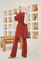 Female CLARET RED T 0090  AHL-2′Lİ PANT. TAKIM