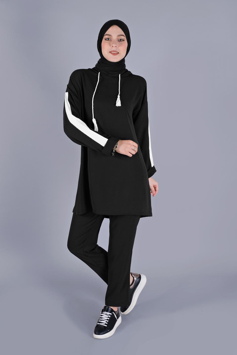 Female BLACK T 2766 NSS-2′Lİ PANT. TAKIM