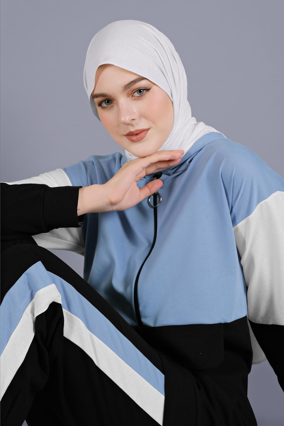 Female BLUE SUIT WITH SPORTS PANTS  7766